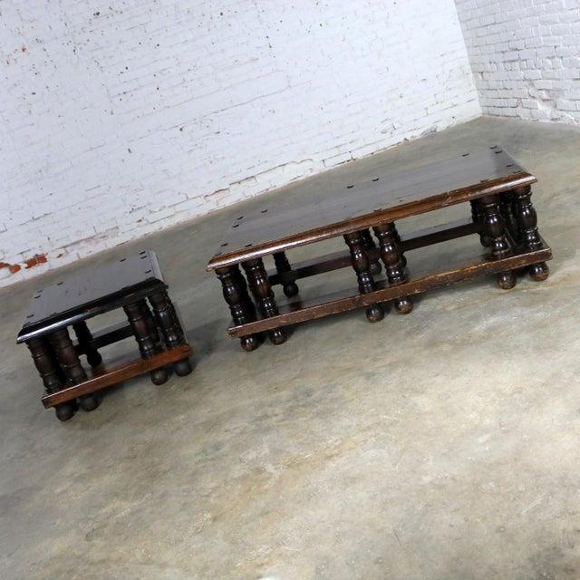 Spanish Revival Style Rectangular Coffee Table Artes De Mexico Internacionales Attribution For Sale - Image 12 of 13