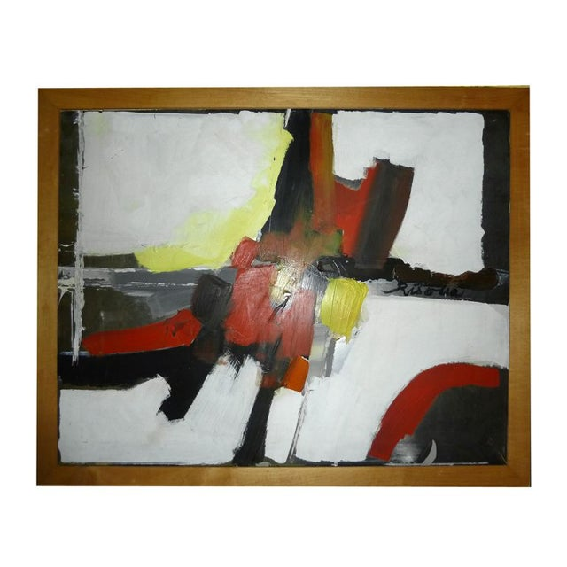 Risolia Original Abstract Oil Painting - Image 1 of 3