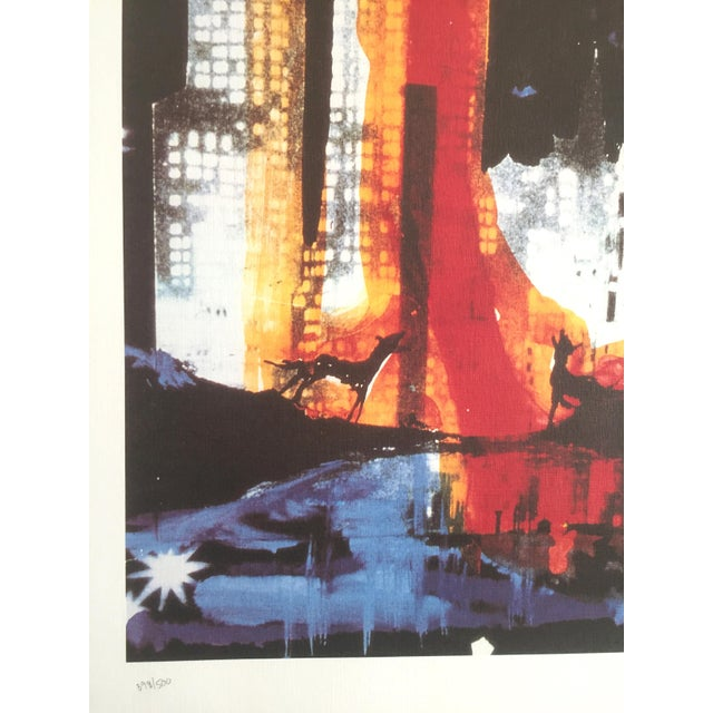 "Salvador Dali ""Manhattan Skyline Tarot the Moon"" Original Limited Edition Lithograph - Image 8 of 8"