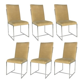 Fine Set of Six Milo Baughman Style Dining Chairs For Sale