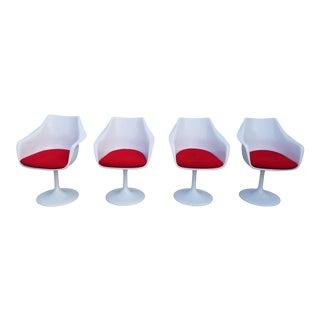 Vintage Mid Century Eero Saarinen Style Dining Chairs Set of 4 For Sale