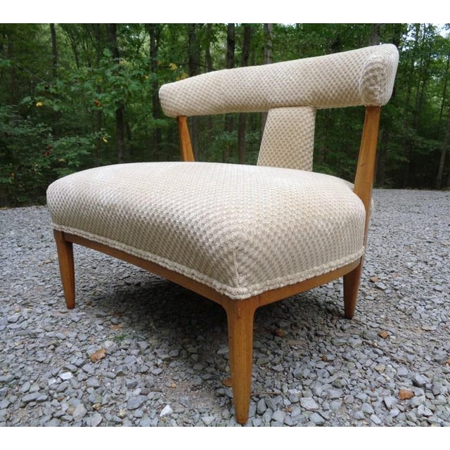 Hollywood Regency Mid Century Tomlinson Sophisticate Slipper Chairs ~ a Pair For Sale - Image 3 of 13