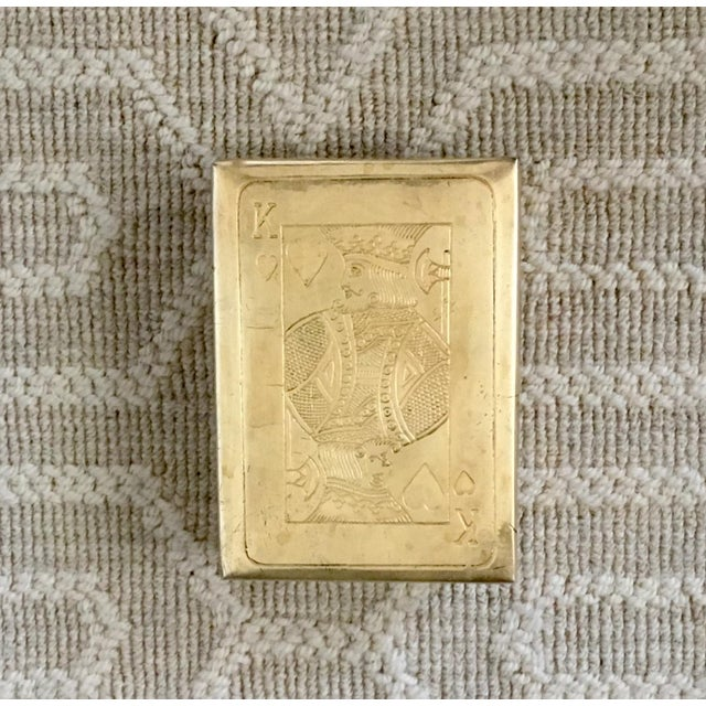 Brass Vintage Brass Playing Card Case For Sale - Image 7 of 7