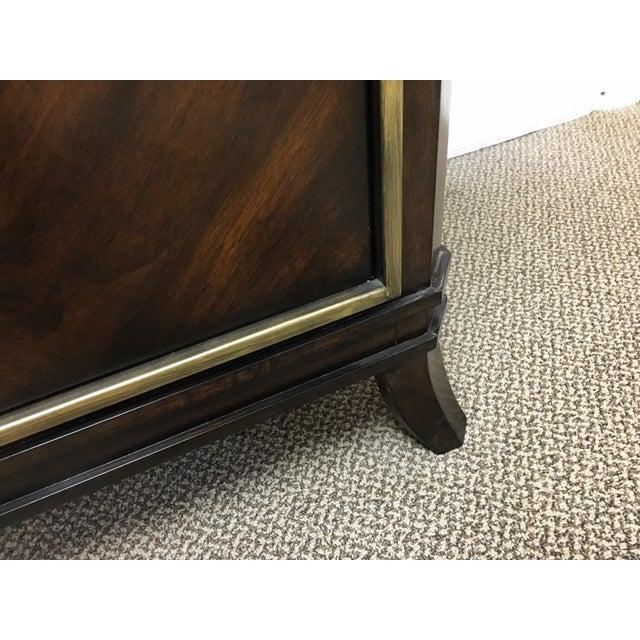 Sleek Funky Herringbone Wooden Sideboard For Sale In San Francisco - Image 6 of 9