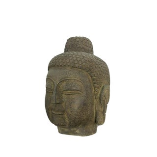 Hand Carved Stone Buddha Head For Sale