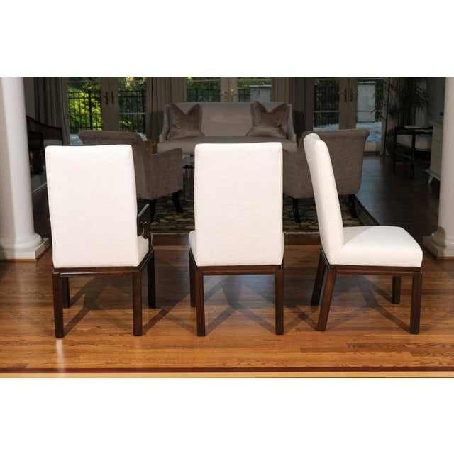 Baker Furniture Company Rare Restored Set of Six Parsons Style Dining Chairs by Baker For Sale - Image 4 of 11