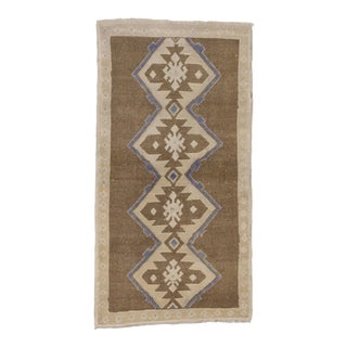 Vintage Turkish Oushak Rug with Modern Style, 2'11 x 5'5 For Sale