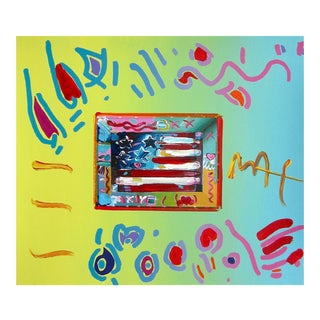 Peter Max Flag 1997 For Sale