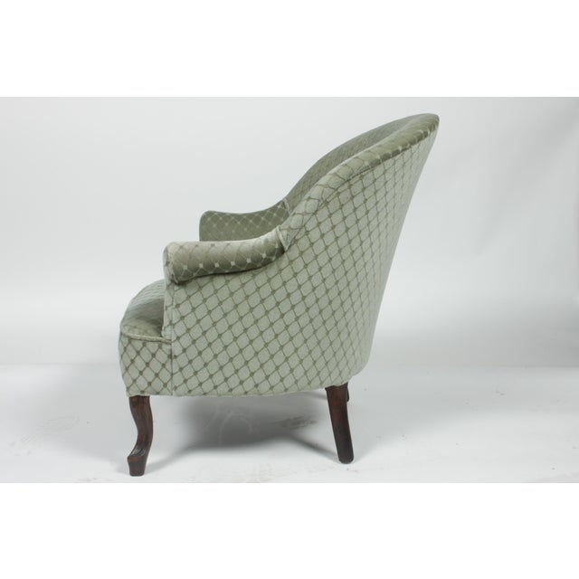 Contemporary 1890s Victorian Ladies Slipper Chair For Sale - Image 3 of 8