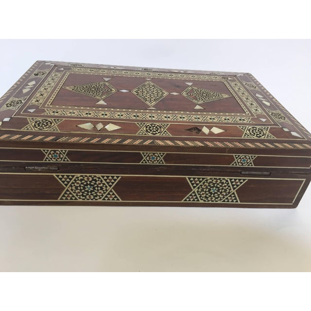 Large Islamic Syrian Wooden Micro Mosaic Box For Sale - Image 4 of 13