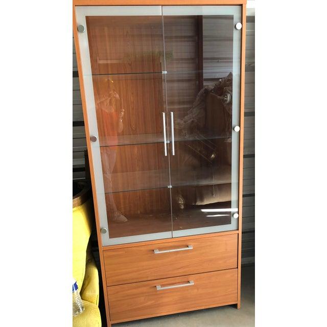 "Contemporary ESF Furniture ""Carmen"" Curio Cabinet For Sale - Image 3 of 4"