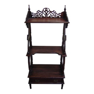 Late 19th Century Wood Etagere For Sale
