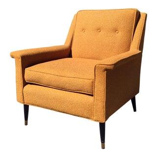 Mid-Century Modern Orange Tweed Lounge Chair