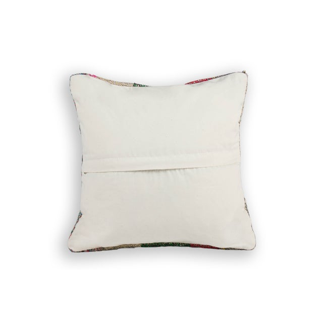 Boho Chic Scottish Style Plaid Weave Pillows - A Pair For Sale - Image 3 of 3