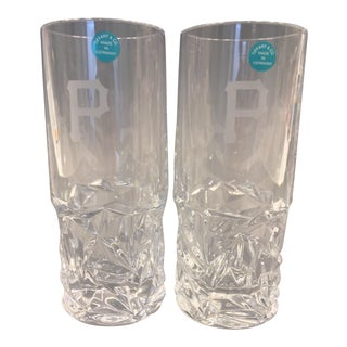Tiffany & Co. Cut Rock Highball Crystal Glasses - A Pair