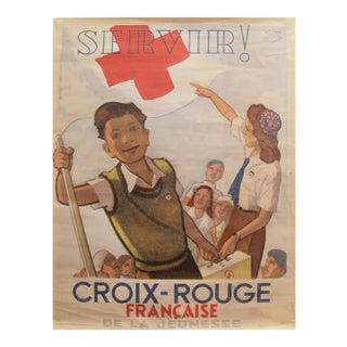 Original 1948 French Poster, Red Cross For Sale