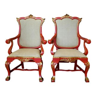Antique Oriental Armchairs- A Pair For Sale