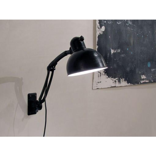 Black Black Wall Task Lamps by Christian Dell for Kaiser & Co. c. 1929 - A Pair For Sale - Image 8 of 10
