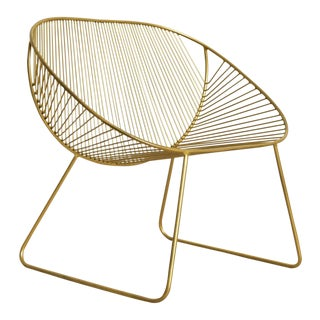 """""""Brandi"""" Modern Gold Spindle Chair For Sale"""