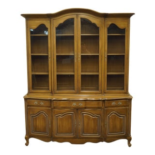 "French Country White of Mebane 73"" China Cabinet For Sale"