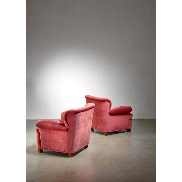 Mid-Century Modern Carl-Johan Boman Pair of Easy Chairs, Finland, 1940s For Sale - Image 3 of 5