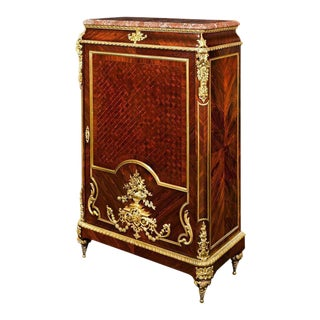 Louis XIV Inspired French Linen Press For Sale