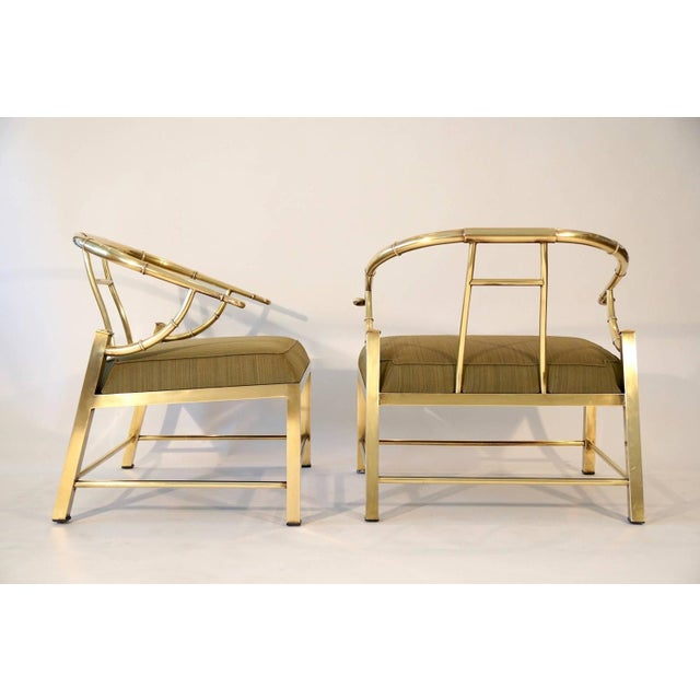 Pair of Brass Lounge Chairs by Mastercraft - Image 3 of 6