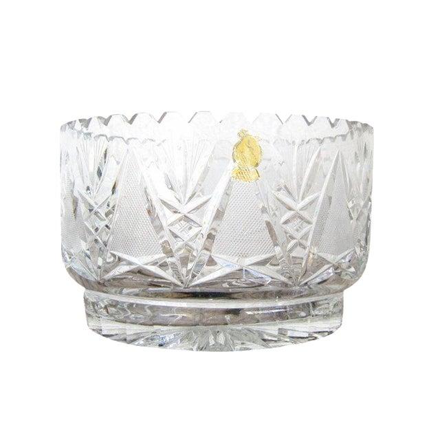 Imperlux Vintage Crystal Fruit Bowl For Sale
