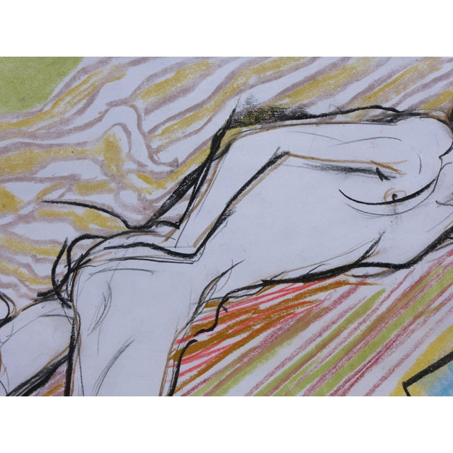 Sunbather Pastel Drawing - Image 4 of 5