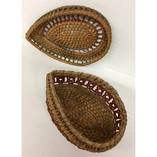 Wicker 1930s Boho Chic Lidded Teardrop Shaped Basket For Sale - Image 7 of 13