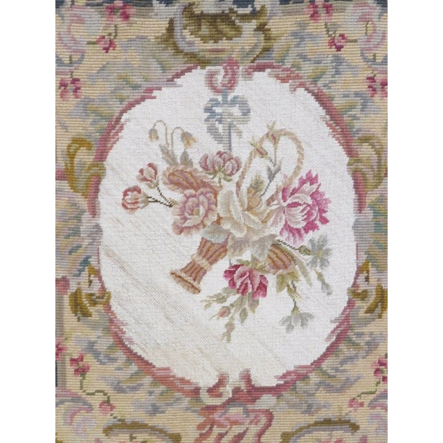 Floral Needlepoint Fire Screen - Image 2 of 6