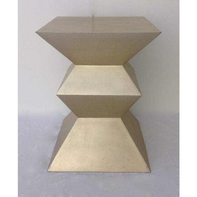 Cubism Sirmos Silver-Leaf Cubist Dining Table Base For Sale - Image 3 of 11