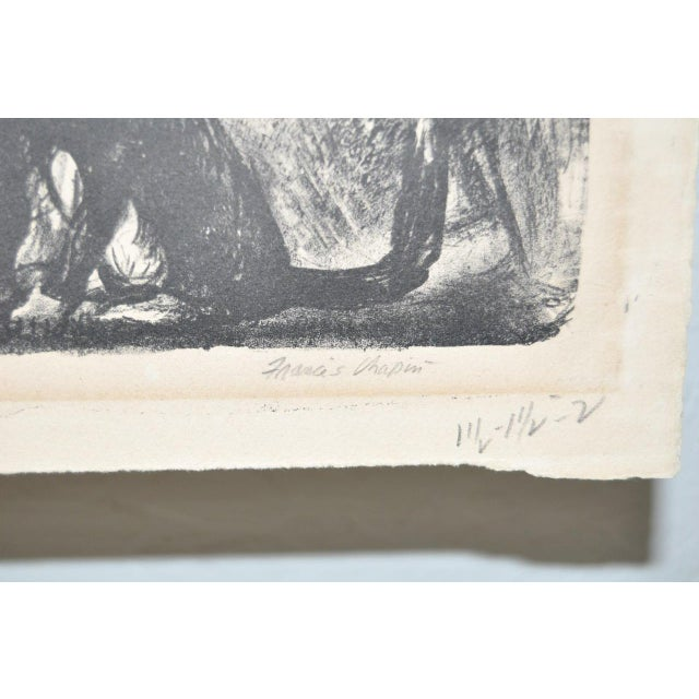 """Figurative """"Cat Family"""" Pencil Signed Lithograph For Sale - Image 3 of 5"""