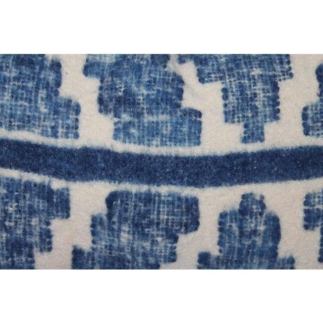 1950s Pair of Handwoven Indigo Alpaca Pillows For Sale - Image 5 of 7