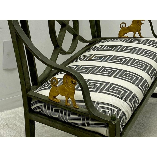 White Pair of Neo-Classical Style Benches / Settees For Sale - Image 8 of 12