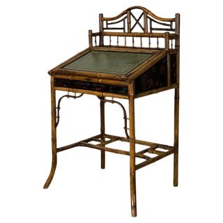 English Aesthetic Movement Bamboo Desk For Sale