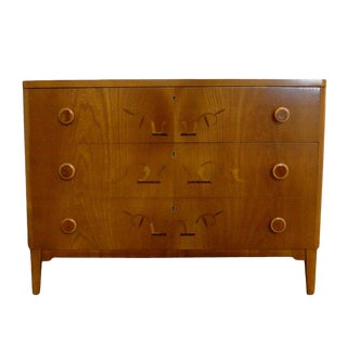 Swedish Art Moderne Intarsia Chest of Drawers For Sale