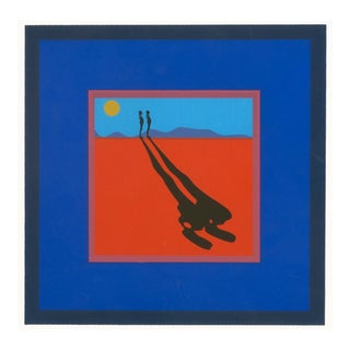 Ernest Trova, Falling Man, Serigraph, 1972 For Sale