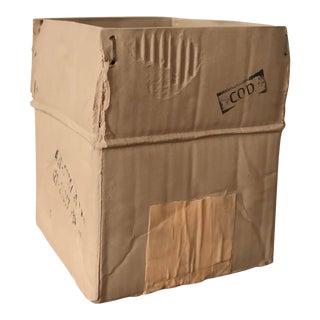Michael Harvey Cardboard Box (Ceramique) Sculpture