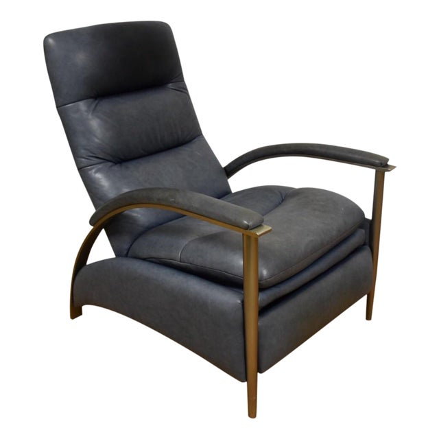 Ethan Allen Modern Leather Recliner - Image 1 of 10