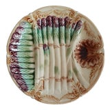 Image of French Majolica Asparagus Plate For Sale
