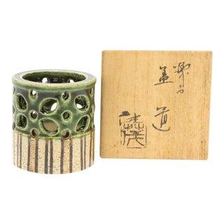 Oribe Futaoki Japanese Antique Ceramic Tea Ceremony Lid Rest For Sale