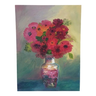 Still Life Flowers in a Vase For Sale