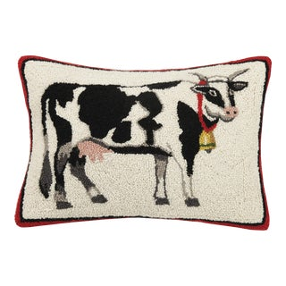 """Cow Hook Pillow, 14"""" x 20"""" For Sale"""
