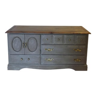 Hand Painted Gray Chest of Drawers