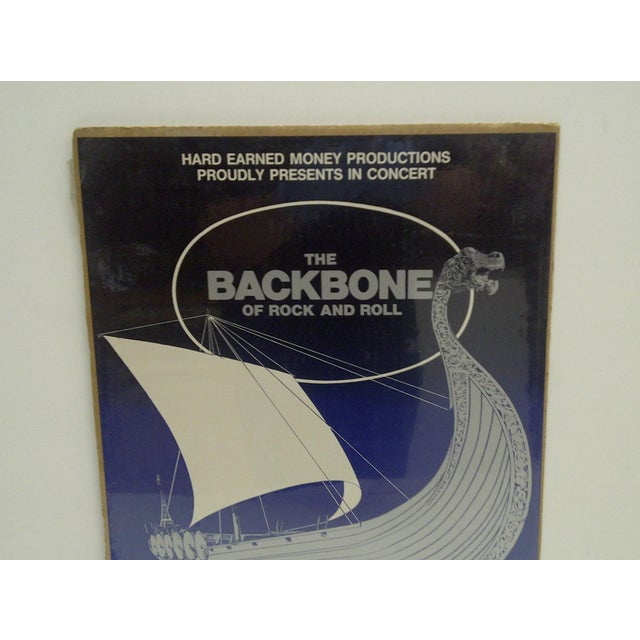 Americana C. 1982 Rock & Roll The Backbone of Rock & Roll Concert Poster For Sale - Image 3 of 4