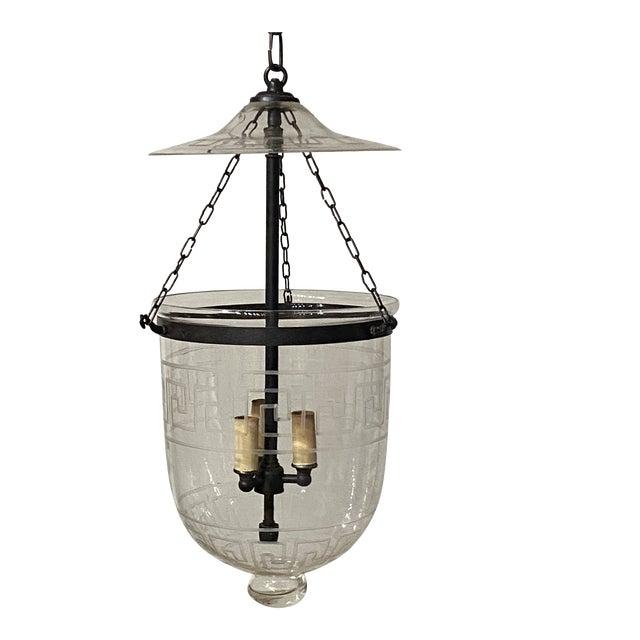 Vintage Smoking Bell Lantern With Greek Key For Sale