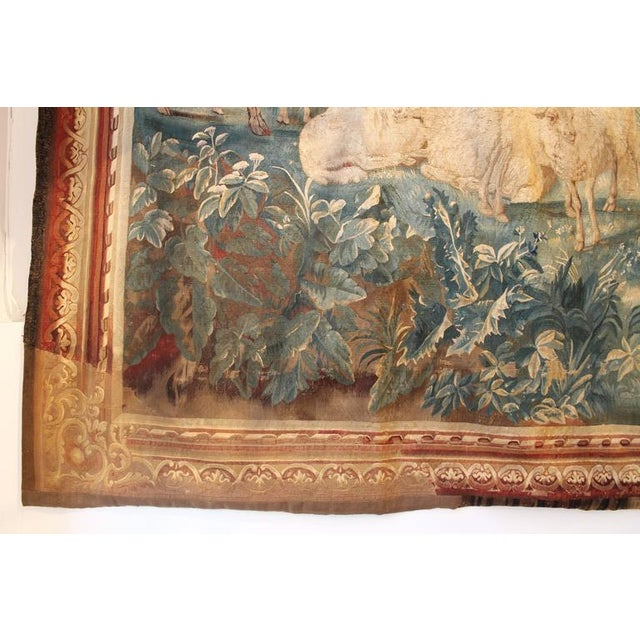 17th Century Brussels Tapestry Signed P. Van Den Hecke For Sale - Image 6 of 8
