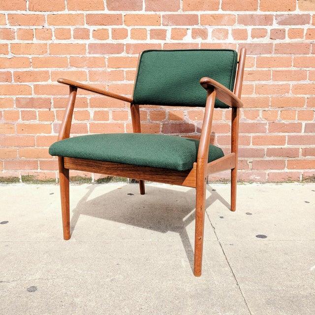 Vintage Mid Century Danish Modern Teak Lounge Chair For Sale In Sacramento - Image 6 of 11