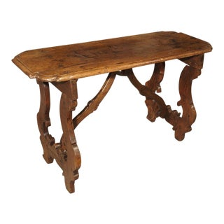 17th Century Walnut Wood Table From the Lombardy Region of Italy For Sale